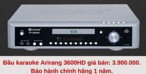 Đầu  karaoke ariang 5 số giá bao nhiêu, ở đâu bán rẻ nhất?