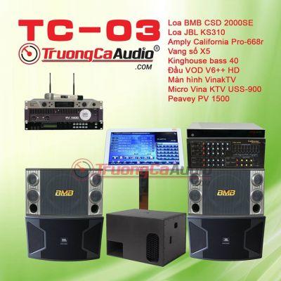 Dàn karaoke kinh doanh TC-03