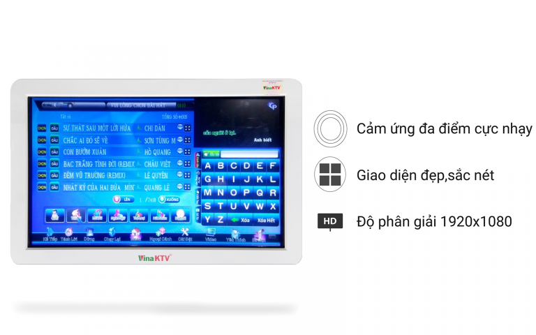 Màn hình cảm ứng 22 Inch VinaKTV